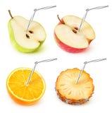 собрание фруктового сока Стоковые Изображения