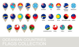 Собрание флагов стран Океании Стоковое фото RF