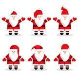 Собрание характеров Санта Клауса рождества иллюстрация штока