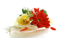 собрание цветет perls Стоковая Фотография RF