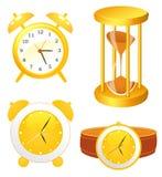 собрание часов иллюстрация вектора