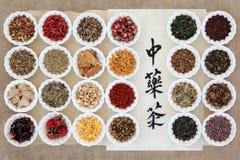 Собрание чая травы стоковые изображения