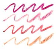 Собрание чертежа губной помады на белой предпосылке Стоковое Фото