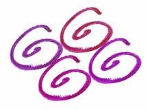 Собрание чертежа губной помады на белой предпосылке Стоковые Изображения RF
