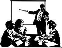 Собрание членов управления иллюстрация штока