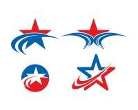 Собрание шаблона ландшафта логотипа звезды Стоковые Фото