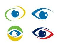 Собрание шаблона логотипа заботы глаза Стоковые Фотографии RF