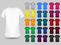 Собрание шаблонов футболки других цветов Стоковое Изображение