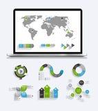 Собрание шаблонов Infographic для дела Стоковые Фотографии RF