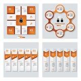 Собрание шаблона цвета 4 апельсинов/плана графика или вебсайта Предпосылка вектора Стоковые Фото