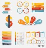 Собрание шаблонов Infographic для дела Стоковое Изображение