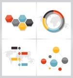 Собрание шаблонов Infographic для дела Стоковое Фото