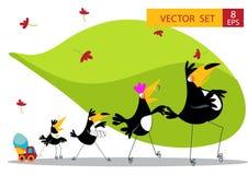 Собрание шаржа 9 Toucan Стоковые Изображения RF