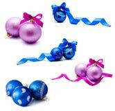 Собрание шариков украшения рождества фото Стоковое фото RF