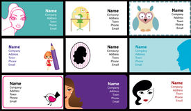 собрание шика визитных карточек Стоковое Фото