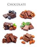 Собрание шоколада стоковые изображения rf