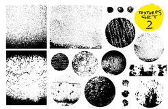 Собрание штемпелей столба Grunge, круги Установленные знамена, Insignias, логотипы, значки, ярлыки и значки Текстуры дистресса ве Стоковое фото RF