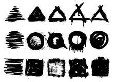 Собрание штемпелей handrawn grunge иллюстрация штока