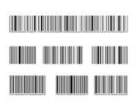 Собрание штрихкода вектора, черные линии и номера, установленные метки иллюстрация штока