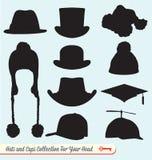 Собрание шляп и крышек иллюстрация вектора