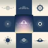 Собрание элегантных элементов орнамента, символов Стоковое Изображение RF