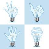 Собрание электрической лампочки Crative иллюстрация вектора