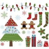 Собрание элементов дизайна рождества Стоковое Изображение