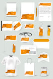 Собрание элементов дизайна для дела, рекламы или визуализирования фирменного стиля Стоковые Изображения RF