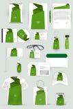 Собрание элементов дизайна для дела, рекламы или визуализирования фирменного стиля Стоковые Изображения