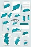 Собрание элементов дизайна для дела, рекламы или визуализирования фирменного стиля Стоковые Фотографии RF