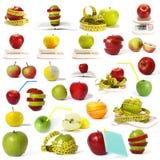 собрание яблок большое Стоковые Фотографии RF
