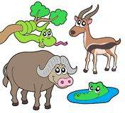 собрание 2 африканское животных Стоковые Фотографии RF