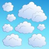 собрание 2 облаков шаржа Стоковая Фотография