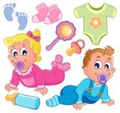 Собрание 2 темы младенцев Стоковые Фото