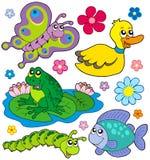 собрание 8 животных малое Стоковое Фото