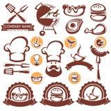Собрание BBQ иллюстрация штока