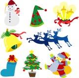 собрание clipart рождества Стоковое Изображение