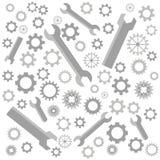 Собрание cogs и ключей, картины шестерней иллюстрация штока