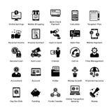 Собрание CollectionIcons значков глифа дела и финансов дела и финансов в стиле глифа иллюстрация штока