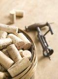 собрание corks вино Стоковые Изображения RF