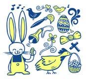 собрание doodles пасха Стоковое Изображение RF