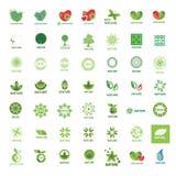 Собрание eco и природы логотипов вектора Стоковые Фотографии RF