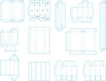 Собрание 02 eps шаблона коробки Стоковые Изображения