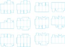 Собрание 03 eps шаблона коробки иллюстрация вектора