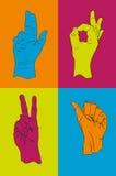 собрание gestures рука Стоковые Изображения