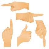 собрание gestures рука иллюстрация вектора