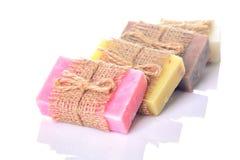Собрание handmade мыла стоковое изображение