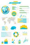 собрание infographic Стоковое Изображение RF