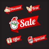 Собрание 029 pr продажи рождества красного и зеленого сети бирки знамени Стоковое Фото