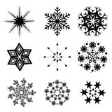 Собрание Snowflacke Стоковые Изображения RF